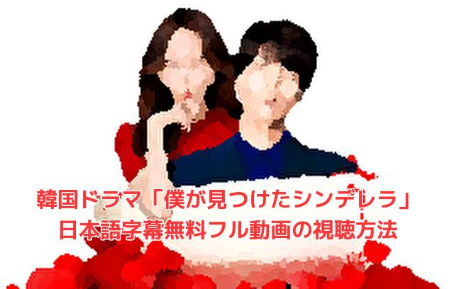 「僕が見つけたシンデレラ」日本語字幕無料フル動画!スマホ視聴はダウンロードで