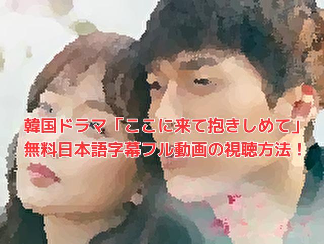 韓国ドラマ「ここに来て抱きしめて」 無料日本語字幕フル動画の視聴方法!