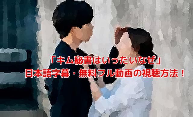 「キム秘書はいったいなぜ」 日本語字幕・無料フル動画の視聴方法!