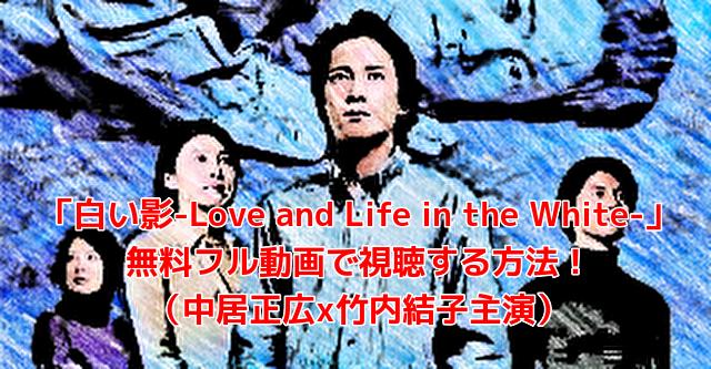 「白い影-Love and Life in the White-」 無料フル動画で視聴する方法! (中居正広x竹内結子主演)