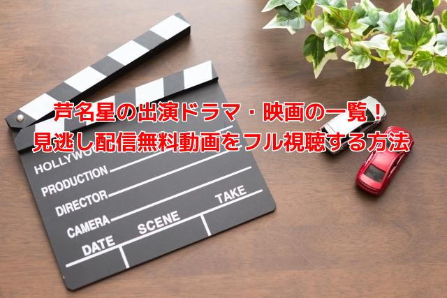芦名星の出演ドラマ・映画の一覧!見逃し配信無料動画をフル視聴する方法